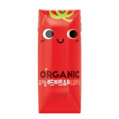 오가닉 레드비트&배&토마토125ml